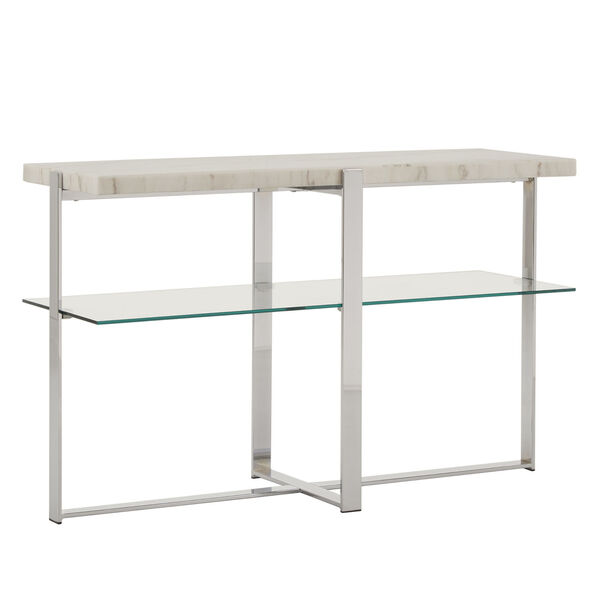 Diana Chrome Marble Top Framed Sofa Table, image 1